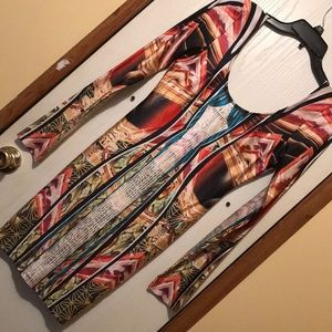 Multi colored long sleeve dress!